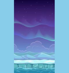 cartoon polar landscape vector image vector image
