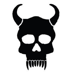 Monster skull with horns vector image