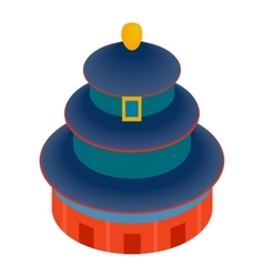 Temple of Heaven icon isometric 3d style vector image