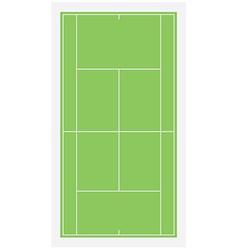 Tennis field vector
