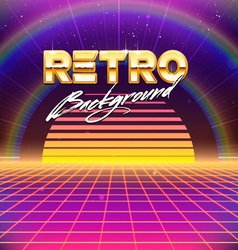 80s Retro Futurism Sci-Fi Background vector image vector image