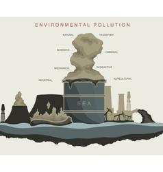 environmental pollution of the world ocean vector image