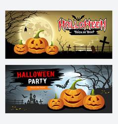 happy halloween banner collections design vector image vector image