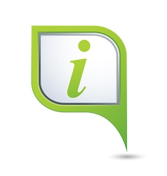 information icon on green pointer vector image