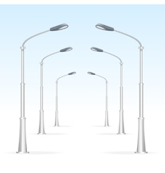 Street lanterns on a white background electricity vector image