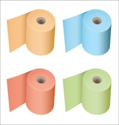 toilet roll collection vector image