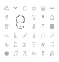 33 beauty icons vector