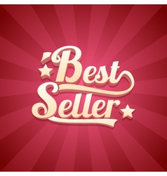 3D Bestseller Retro Background vector