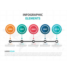 Abstract colorful circle business timeline vector