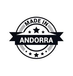 andorra stamp design vector image
