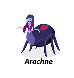 Arachne isolated on white in flat art vector
