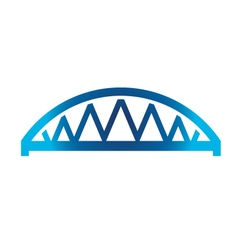 Arched Bridge vector image vector image