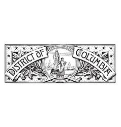 Banner washington district columbia vector