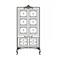 Baroque Rich Furniture Closet vector
