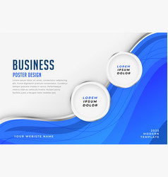 Blue business theme poster design template banner vector