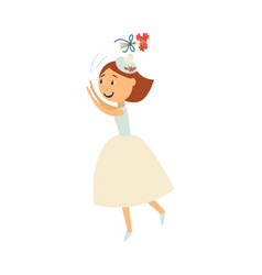 bride throwing her bouquet isolated vector image