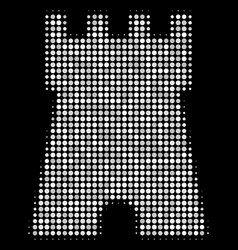 Bulwark tower halftone icon vector