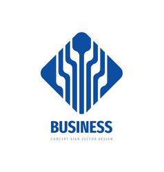 Business success logo design development progress vector