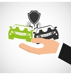 car insurance business icon vector image