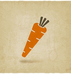 Carrot icon old background vector image vector image