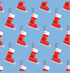 christmas stocking pattern vector image