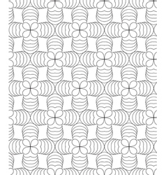 Clover leafs black and white abstract seamless vector image vector image
