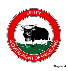 Coat arms nagaland is a indian region emblem vector