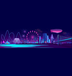 concept background with night city vector image