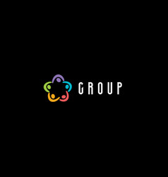 corporate group meeting logo people holding hands vector image