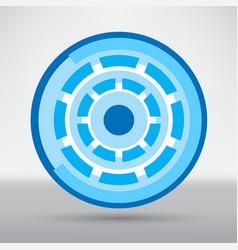 cyber eye symbol icon vector image