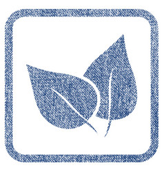 Flora plant fabric textured icon vector