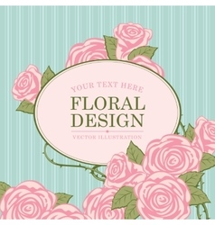 Floral designs with roses vector