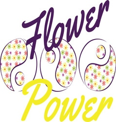 Flower Power Yin Yang vector