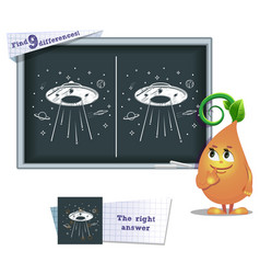 Game find 9 differences ufo vector