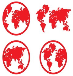 Globe icon2 resize vector image