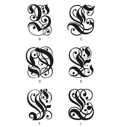 Gothic letters vector
