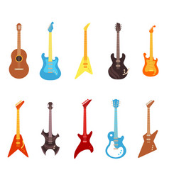guitar set - different vector image