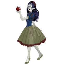 Halloween Snow White vector image