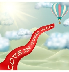 Hot air balloon EPS 10 vector