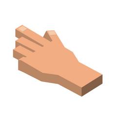 human hand 3d vector image