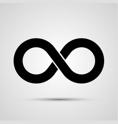 infinity icon black template design element vector image
