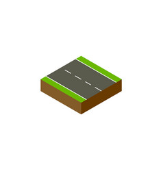 Isolated driveway isometric single-lane vector
