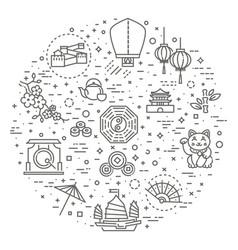 Japanese theme icon set vector