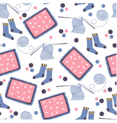 knitting production and hobon free time vector image