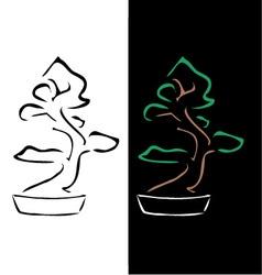 Logo for bonsai business vector image