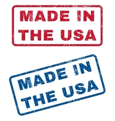 Made In The USA Rubber Stamps vector