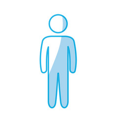male pictogram symbol vector image