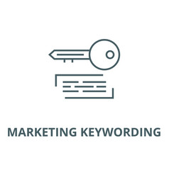 marketing keywording line icon linear vector image