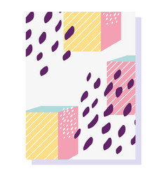 memphis 80s 90s style abstract geometric shape vector image