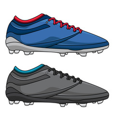 Mens football training shoes vector